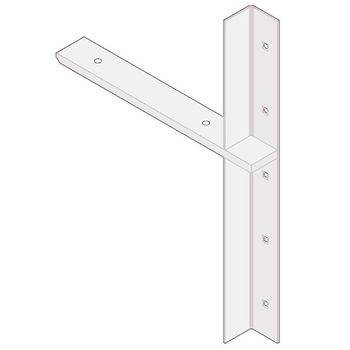 "Best Brackets Imported Extended Concealed Flat Bracket (2.0 Version) with 12"" Support Arm in White, Sold As Pair"