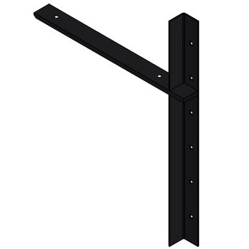 "Best Brackets Imported Extended Concealed Flat Bracket (2.0 Version) with 18"" Support Arm in Black, Sold As Pair"