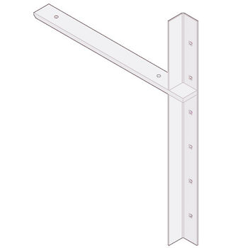 "Best Brackets Imported Extended Concealed Flat Bracket (2.0 Version) with 18"" Support Arm in White, Sold As Pair"