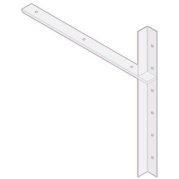 "Best Brackets Imported Extended Concealed Flat Bracket (2.0 Version) with 24"" Support Arm in White, Sold As Pair"