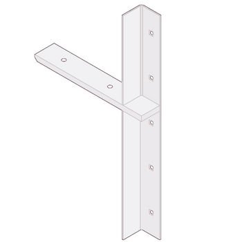 "Best Brackets Imported Extended Concealed Flat Bracket (2.0 Version) with 9"" Support Arm in White, Sold As Pair"