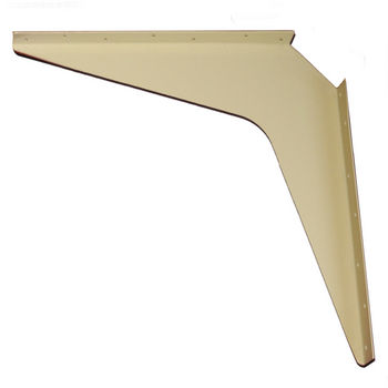 "Work Station And Counter Top Support Bracket, 18"" D x 18"" H, Almond Finish, 6 Pcs."
