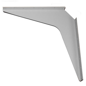 "Work Station And Counter Top Support Bracket, 18"" D x 18"" H, Gray Finish, 6 Pcs."