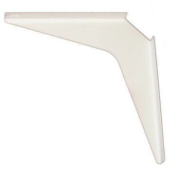"Work Station And Counter Top Support Bracket, 18"" D x 18"" H, White Finish, 6 Pcs."