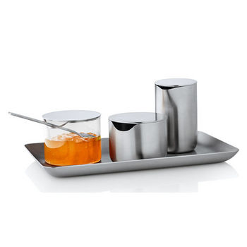 Blomus Basic Collection Tray in Satin Stainless Steel