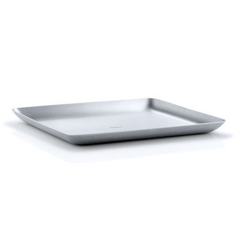 Blomus Basic Collection Tray in Satin Stainless Steel, 7-7/8'' W x 6-45/64'' D x 19/32'' H