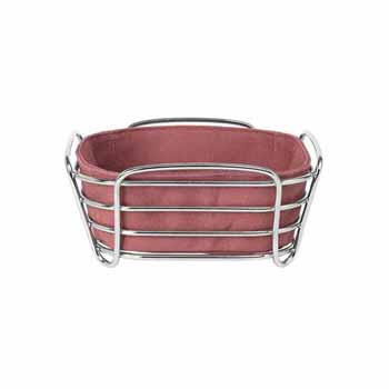 Blomus Delara Collection Wire Serving Basket, Small, Withered Rose, 8''W x 8''D x 3-5/8''H
