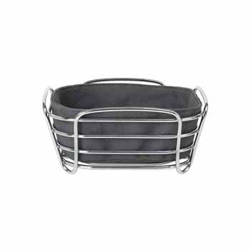 Blomus Delara Collection Wire Serving Basket, Small, Magnet, 8''W x 8''D x 3-5/8''H