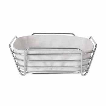 Blomus Delara Collection Wire Serving Basket, Large, Moonbeam, 10''W x 10''D x 3-5/8''H