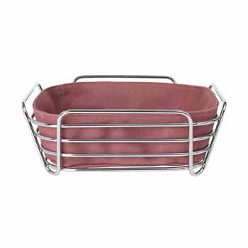 Blomus Delara Collection Wire Serving Basket, Large, Withered Rose, 10''W x 10''D x 3-5/8''H