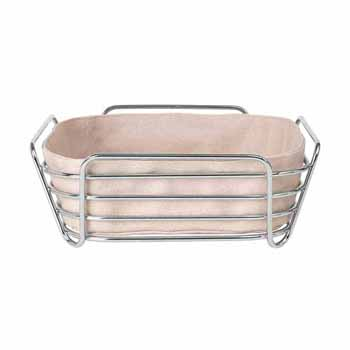 Blomus Delara Collection Wire Serving Basket, Large, Rose Dust, 10''W x 10''D x 3-5/8''H