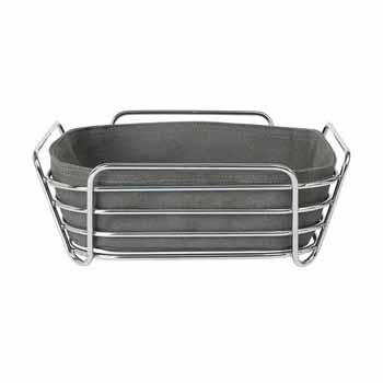 Blomus Delara Collection Wire Serving Basket, Large, Agave Green, 10''W x 10''D x 3-5/8''H