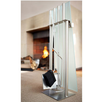 Fireplace Set with Glass Front