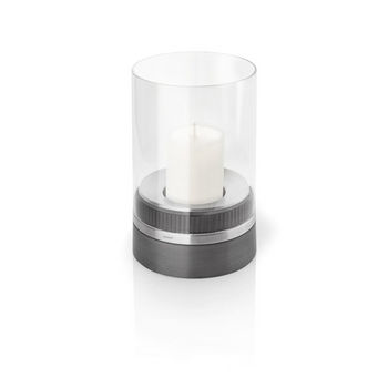 Piedra Hurricane Lamp with Candle