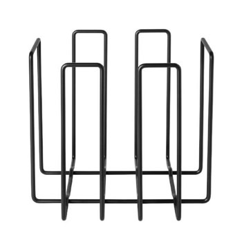 Magazine Holder Recycling Container in Black Display View