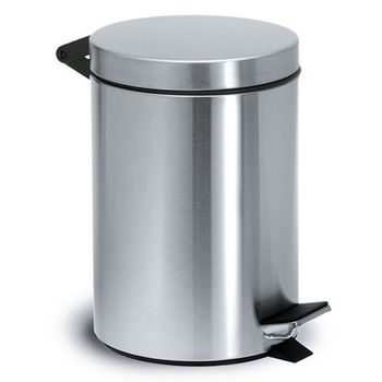 Brushed Stainless Steel Pedal Bin By Blomus