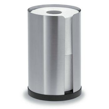 Blomus Nexio Brushed Stainless Steel Toilet Paper Holder for 2 Rolls