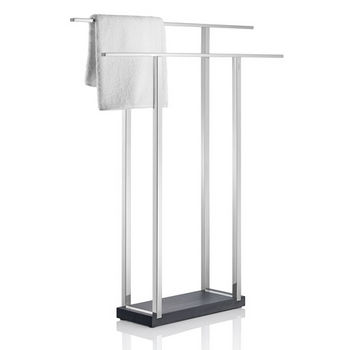 Blomus Menoto Collection Wide Towel Rack in Polished Stainless Steel, 6-5/16'' W x 29-9/16'' D x 35-21/32'' H