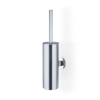 Blomus Areo Collection Wall-Mounted Toilet Brush in Matt Brushed Finish, 3-1/2'' Diameter x 4-3/4'' D x 17'' H