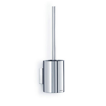 Blomus Nexio Collection Wall Mounted Short Toilet Brush in Polished Stainless Steel, 3-1/2'' Diameter x 14'' H