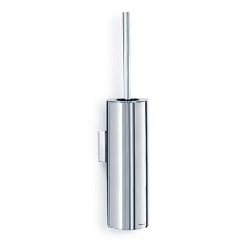Blomus Nexio Collection Wall Mounted Tall Toilet Brush in Polished Stainless Steel, 4-9/64'' Diameter x 18-1/8'' H