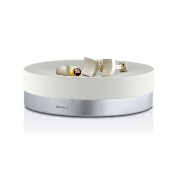 Blomus Ara Collection Soap Dish in White, 4-25/32'' Diameter x 1-3/8'' H