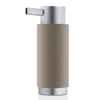 Blomus Ara Collection Soap Dispenser in Taupe, 3-15/64'' Diameter x 2-2/5'' D x 6-5/8'' H