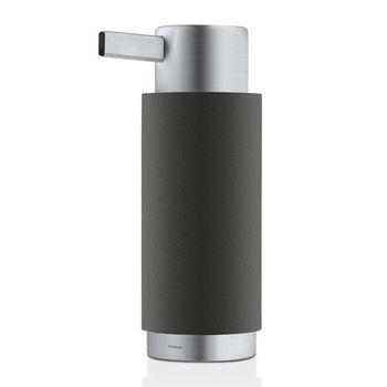 Blomus Ara Collection Soap Dispenser in Black, 3-15/64'' Diameter x 2-2/5'' D x 6-5/8'' H