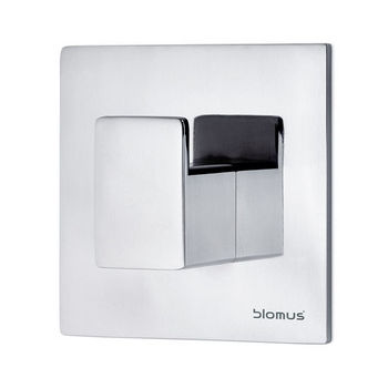 Blomus Menoto Collection Wall Mounted Hook in Polished Stainless Steel, 2-3/8'' W x 2-3/8'' D x 1-1/32'' H