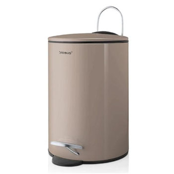 Wastepaper Basket 3L Satellite in Taupe Display View
