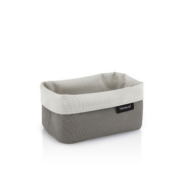 Empty Reversed Sand-Taupe Small Basket