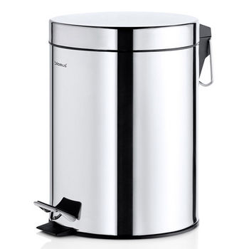 Blomus Nexio Collection Pedal Waste Bin with Polished finish, 10-1/4''W x 8''D x 11''H