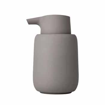 Blomus Sono Collection Soap Dispenser, Taupe, 3-3/8''W x 3-11/16''D x 5-11/16''H