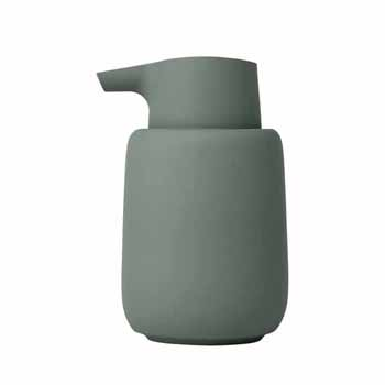 Blomus Sono Collection Soap Dispenser, Agave Green, 3-3/8''W x 3-11/16''D x 5-11/16''H