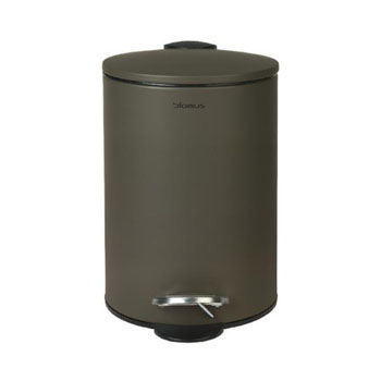 Wastepaper Basket 3L Tarmac in Olive Display View