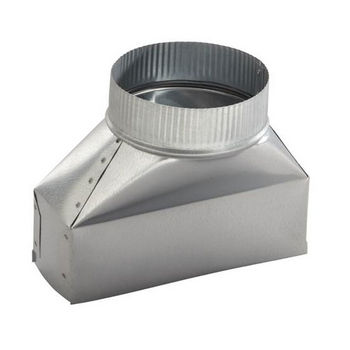 """Round Galvanized Steel Duct Transition Broan 3-1//4/"""" x 10/"""" Rectangular to 6 in"""