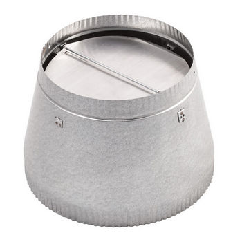 """10"""" to 8"""" Duct Reducer with Damper"""