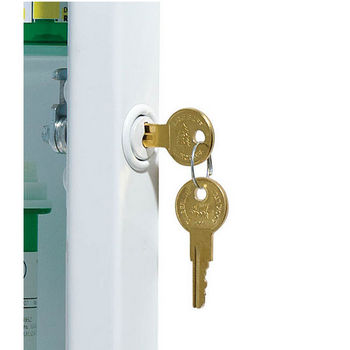 Security Locking Medicine Cabinet Frames - Lock