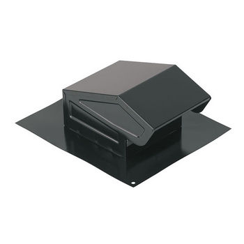 "Broan Steel Roof Cap, for 3"" or 4"" Round Duct, Black"