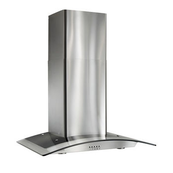 "Broan 30"" Arched Glass Chimney Range Hood, Stainless Steel, 450 CFM"