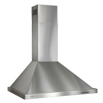 """Broan 36"""" Wall Mounted Traditional European Style Chimney Hood in Brushed Stainless Steel, 450 CFM, 35-7/16"""" W x 19-3/4"""" D x 36"""" H"""