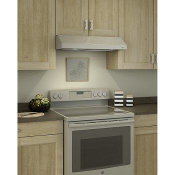 Glacier Bcsd1 Series 24 To 42 Wide Intermediate Under Cabinet Range Hood 250 Cfm 1 5 Sones In In Bisque Black Stainless Steel Or White By Broan Kitchensource Com