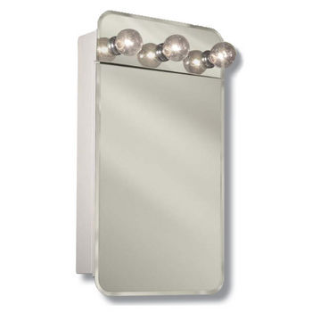 Delicieux Jensen (Formerly Broan) Lafayette Frameless Surface Mount Medicine Cabinet,  With Exterior Lights And Piano Hinge,.