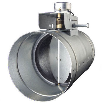 Broan Automatic Make-Up Air Damper, Multiple Diameters Available - Direct Wired, For Use with QP, Elite E60000, and Elite E64000 series hoods