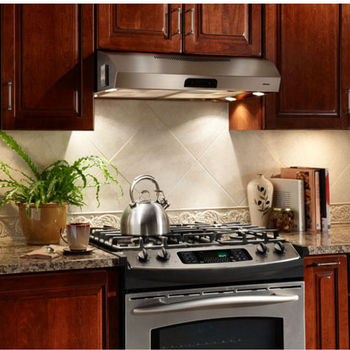 Broan Qp3 Series Cabinet Mount Range Hood 450 Cfm Stainless Steel 30 42 Widths Available