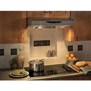 Range hoods allure qs2 series under cabinet mount range for Allure kitchen cabinets