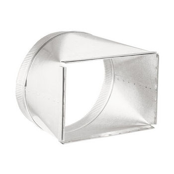 """Broan Duct Transition, 8"""" x 12"""" to 12"""" Round, for 900 & 1500 CFM models"""
