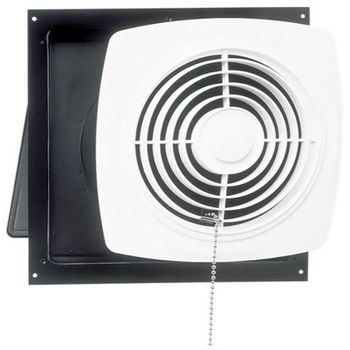 Broan Chain Operated Wall Mount Utility Fan, 470 CFM