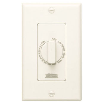 Broan Variable Speed Decorator Wall Control, Ivory