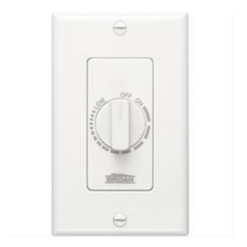 Broan Variable Speed Decorator Wall Control, White